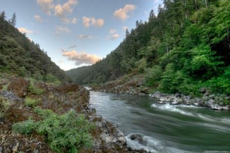 Rogue River flows by