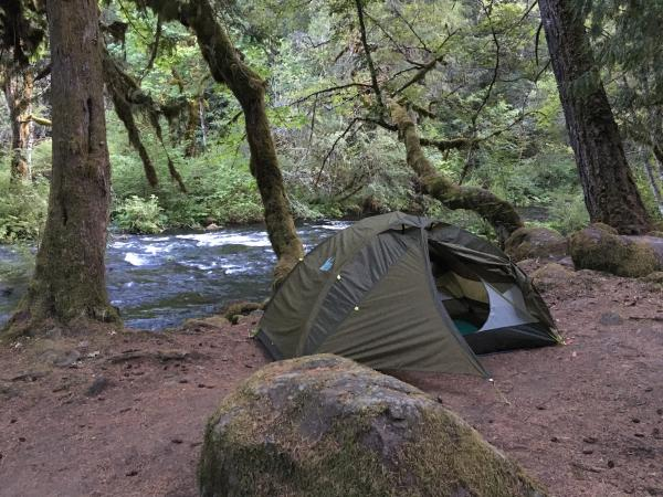 Campsite near river