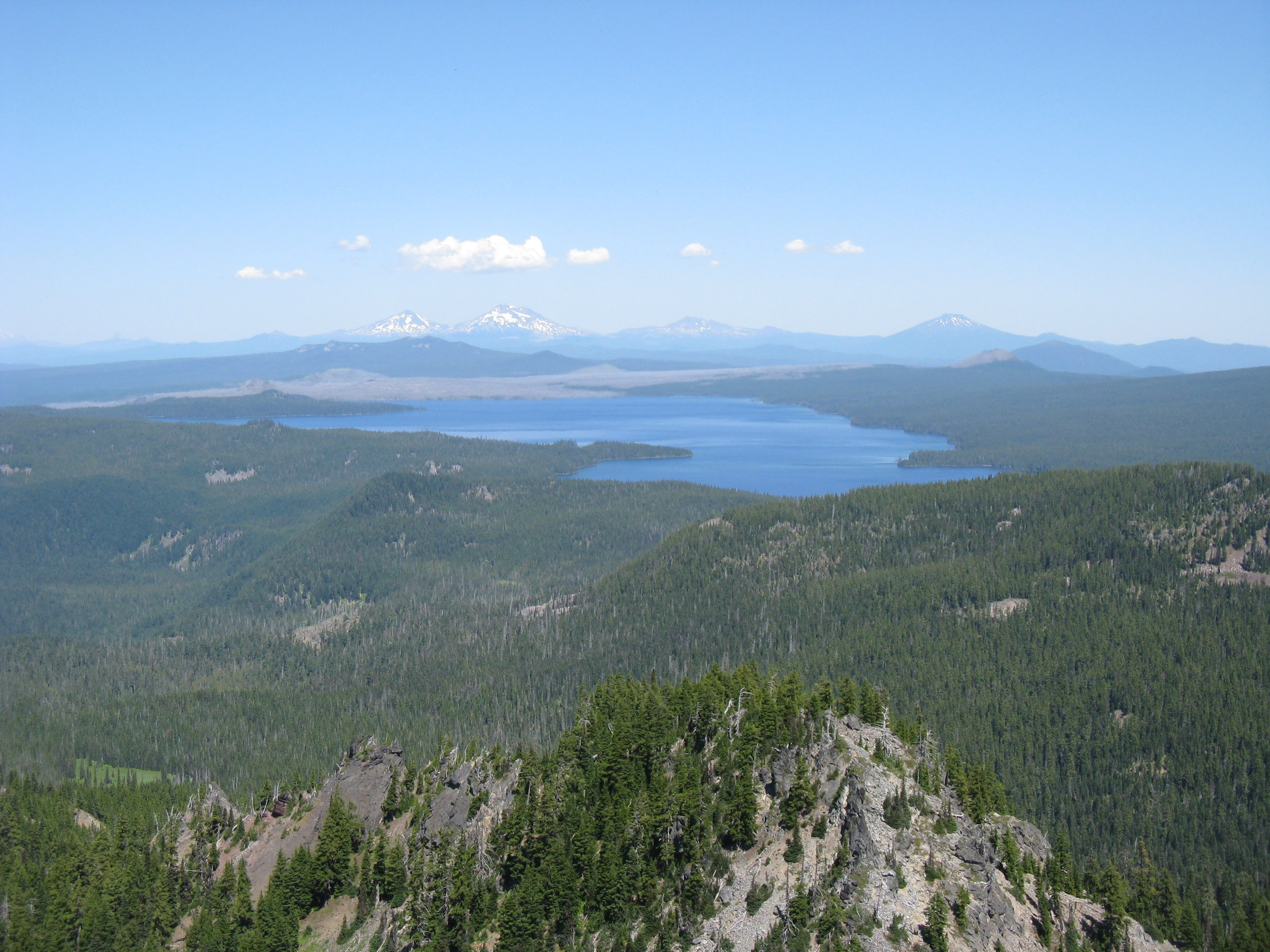 Waldo lake stretches out from the base of Fuji Mountain, in a roadless area protected with a robust NEPA analysis.
