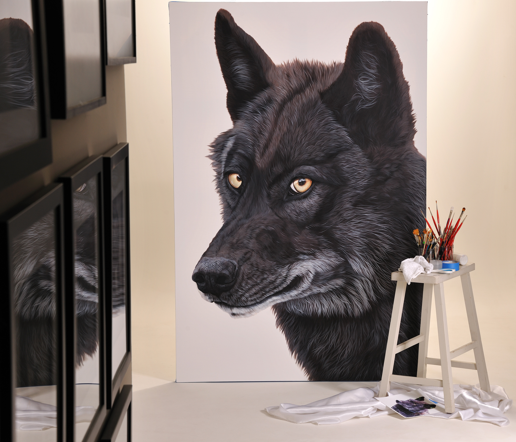 """""""I Was Wild. They Named Me OR-4"""" by Ester Curini is inspired by an Oregon Wolf killed in the spring of 2016 and father to OR-7."""